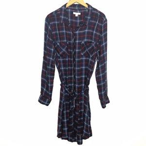 BeachLunchLounge | Simone Flannel Shirt Dress L
